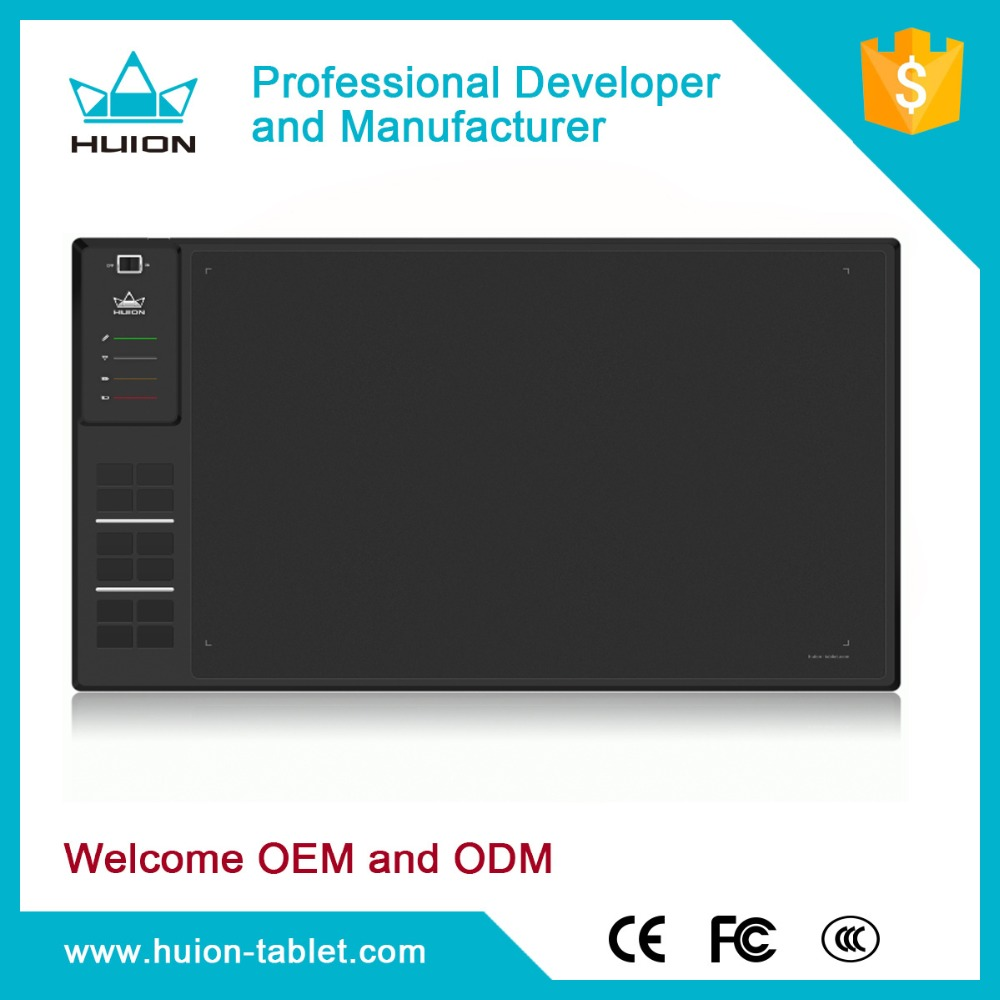 2016 Newest HUION WH1409 Professional Drawing Graphic <strong>Tablet</strong>