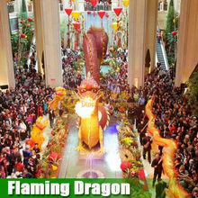 Big shopping center decoration spitting fire 3d Chinese dragon model