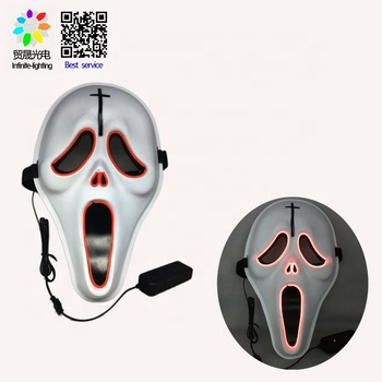 Light Up Masks Costume Mask Halloween, EDM, Cosplay, Rave, Party, Movie