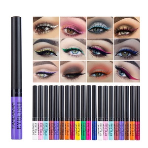 Wholesale FDA Certificate Waterproof Eye Liner Private Label 12 Color Liquid Matte Eyeliner For Eyes Makeup
