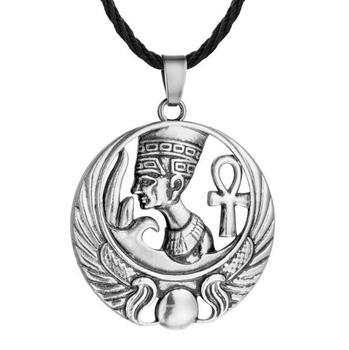 Qm065 Huilin Ankh Charm Small Queen Nefertiti Necklace Egyptian Jewelry -  Buy Nefertiti Necklace,Egyptian Queen Necklace,Ankh Charm Necklace Product