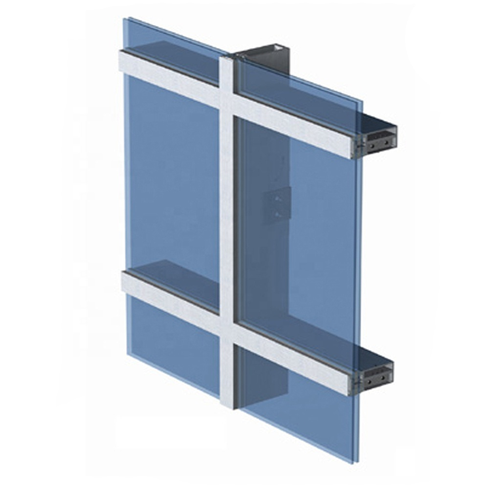 Exterior Facade aluminum extrusion profile Reflection Glass unitized curtain wall