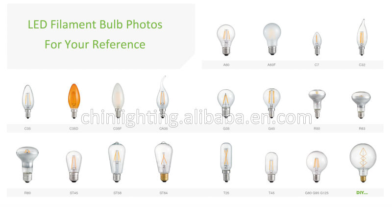 e27 g95 led filament lamp bulb 6w spherical filament bulb g95 clear e27 g95 copper filament