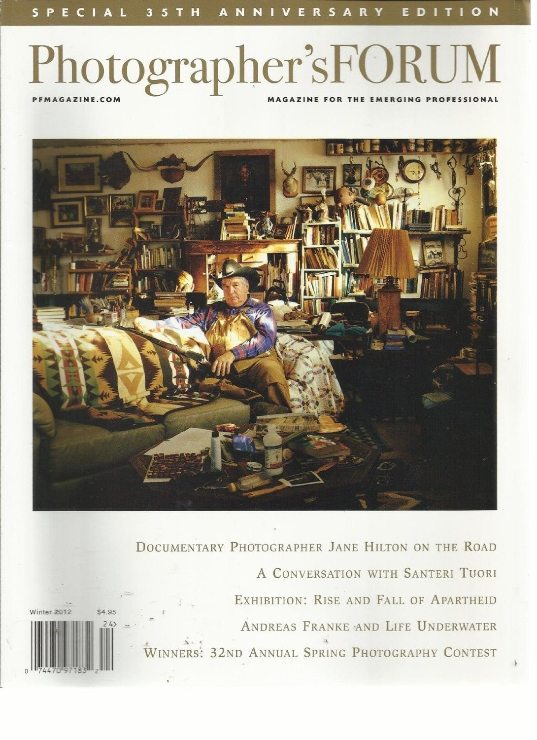 PHOTOGRAPHER'S FORUM, WINTER, 2012 ( MAGAZINE FOR THE EMERGING PROFESSIONAL )