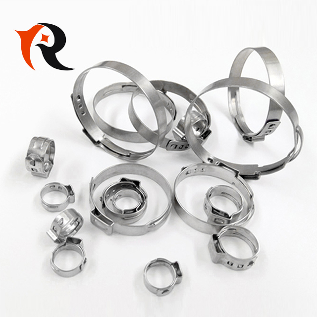 Stainless Steel Pipe Clamp Single Ear Stepless Hose Clamp