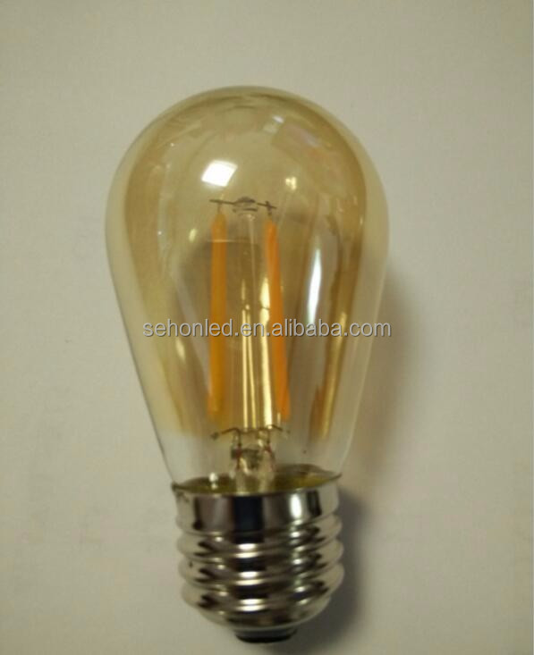 UL Approval E27 B22 Dimmable 4W Filament S14 Led filament bulb dimmable edison bulbs