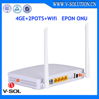 Ftth 2pots 4ge voip wifi optical fiber GEPON ONU HG326UEG