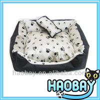 Paw Prints Short Fur,Waterproof base And Non-slip Bottom Personalized Designer Pet Beds