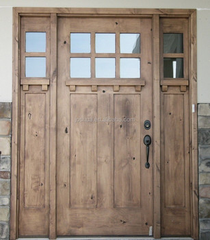 New construction cottage entry door w 2 sidelights 8 39 0 for Solid wood door construction