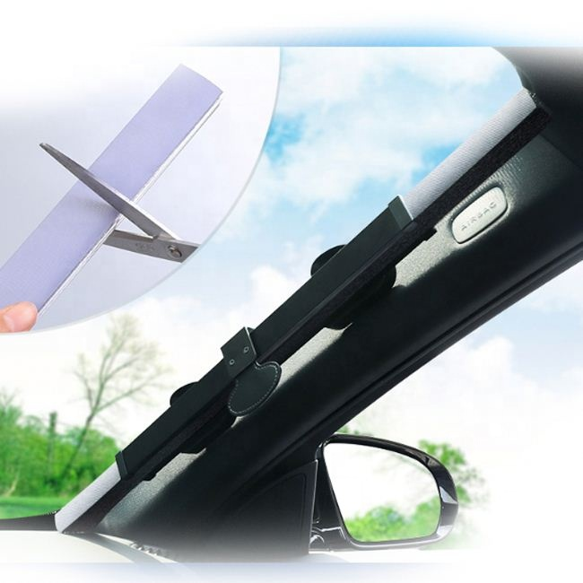 New Foldable Printing Car Window Sunshade With PE Bubby By Keeping The <strong>Sun</strong> Off Suction Cups