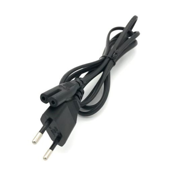eu power cord with 2 pin c7 iec 60320 power cord figure 8 female connector