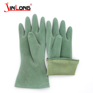 High alkali acid butyl nylon duty green chemical resistant industry safety working gloves