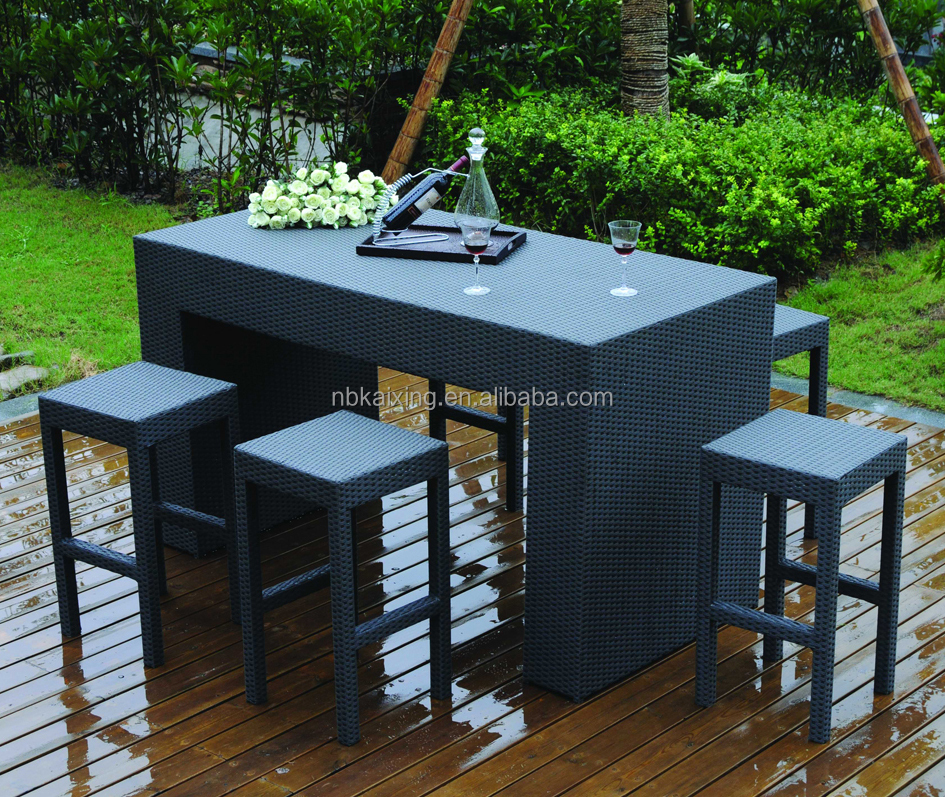 Wholesale rattan hotel outdoor furniture bar set HB21.9105