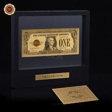 WR Отличный домашний декор, американская цветная позолоченная банкнота, 1864 год, 100 долларов США, Банкнота с демонстрационной подставкой для к...(Китай)