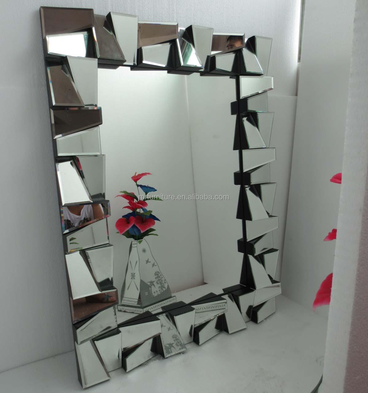 Big facet miroir mural pour salle manger buy product for Miroir mural a coller
