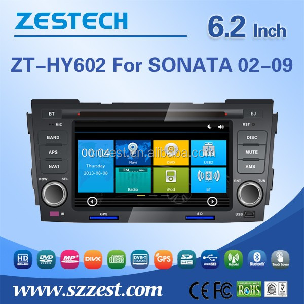 2 din car radio audio multimedia system for Hyundai Sonata 2002-2009 car cd player with car audio GPS DVD V-10disc Support IPOD