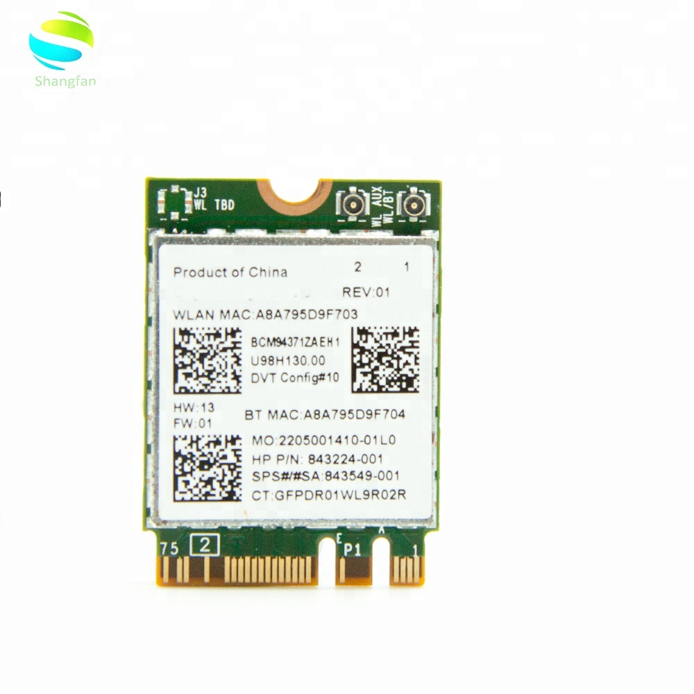 Broadcom BCM94371ZA Dual Band AC WiFi BT 4.1 Desktop Adapter PCIE 1X WLAN Card