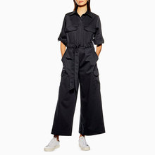 OEM hoge kwaliteit playsuit zakken belted ontspannen jumpsuit <span class=keywords><strong>vrouwen</strong></span> <span class=keywords><strong>overalls</strong></span>