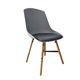 Modern Indoor Leisure Plastic PP Seat Fabric Upholstered Dining Room Chair