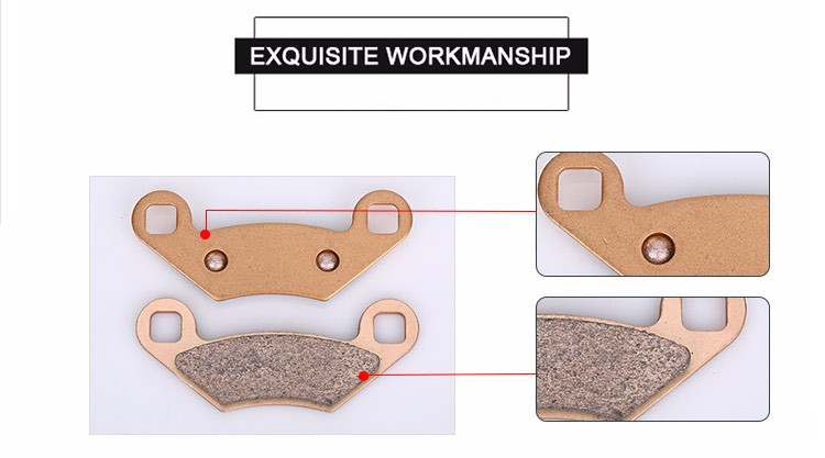 China wholesale sintered copper disc atv rear brake pad