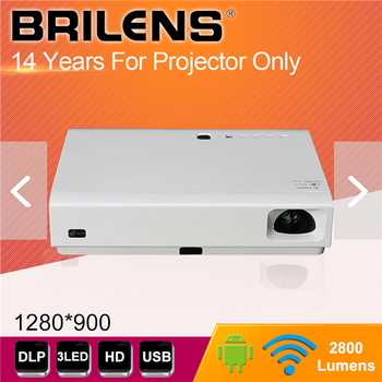 High Quality Factory Price 3LED DLP 1280x800 beamer, 2800 lumens smart proyector, portable projector