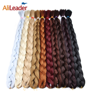 AliLeader Top Selling Angels Synthetic Hair Jumbo Braid 82 Inch 165G Pure Color Silky Extra Long Jumbo Braid Hair Extension