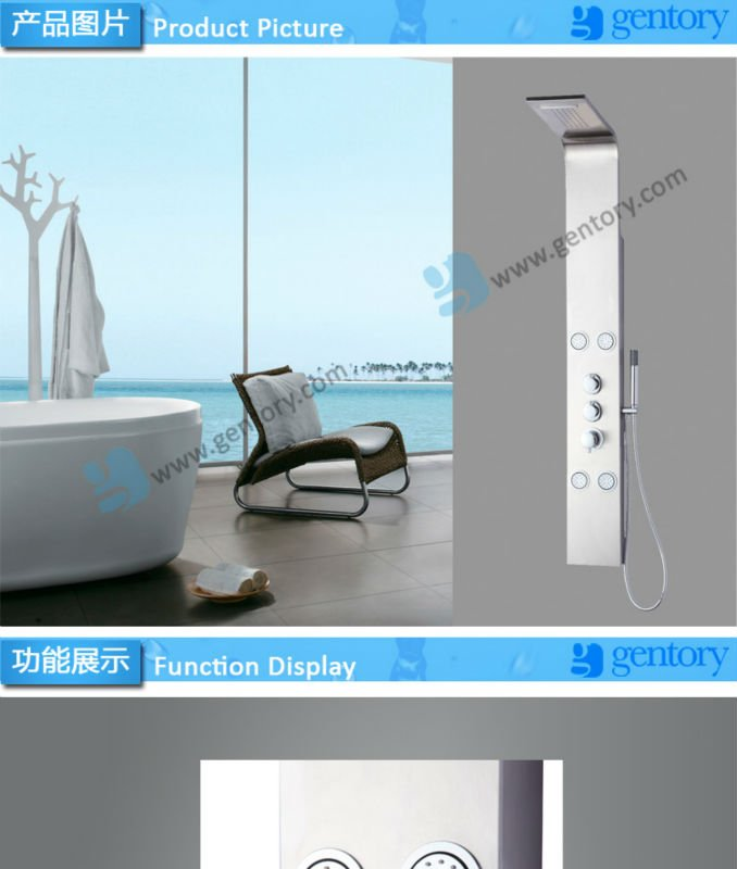 Multi function sanitary ware, fancy bathroom design bath product massage S111 shower panel