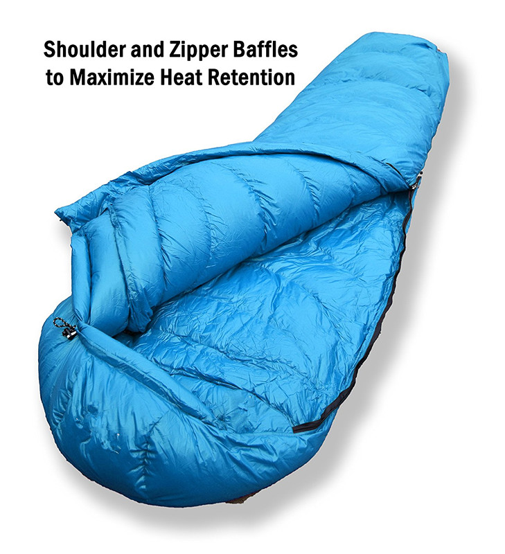 Woqi 3 quarters sleeping bag,Factory Directly Winter Waterproof Mummy Down Sleeping Bag