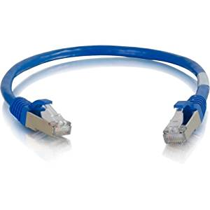 """C2g Cat6a Snagless Shielded (Stp) Network Patch Cable - Patch Cable - Rj-45 (M) - Rj-45 (M) - 6 In - Screened Shielded Twisted Pair (Sstp) - Cat 6A - Molded, Stranded, Snagless - Blue """"Product Type: Supplies & Accessories/Network Cables"""""""