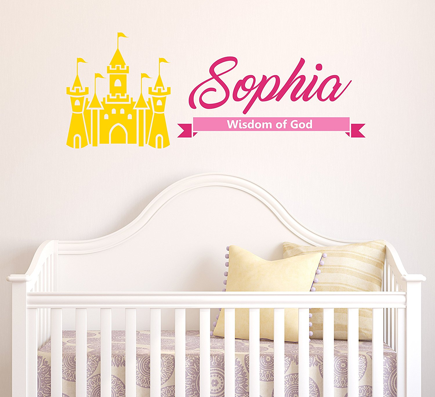 Get Quotations Sophia Wisdom Of Personalized Baby Name Meaning Wall Decals For Babies Boys Kids Custom