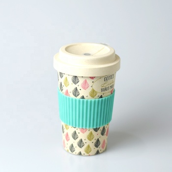 New Product Eco Friendly Bamboo Fiber Mug Drinking Coffee Cup With Bamboo Lid