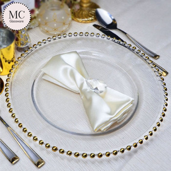 Wedding event party wholesale glass charger plates