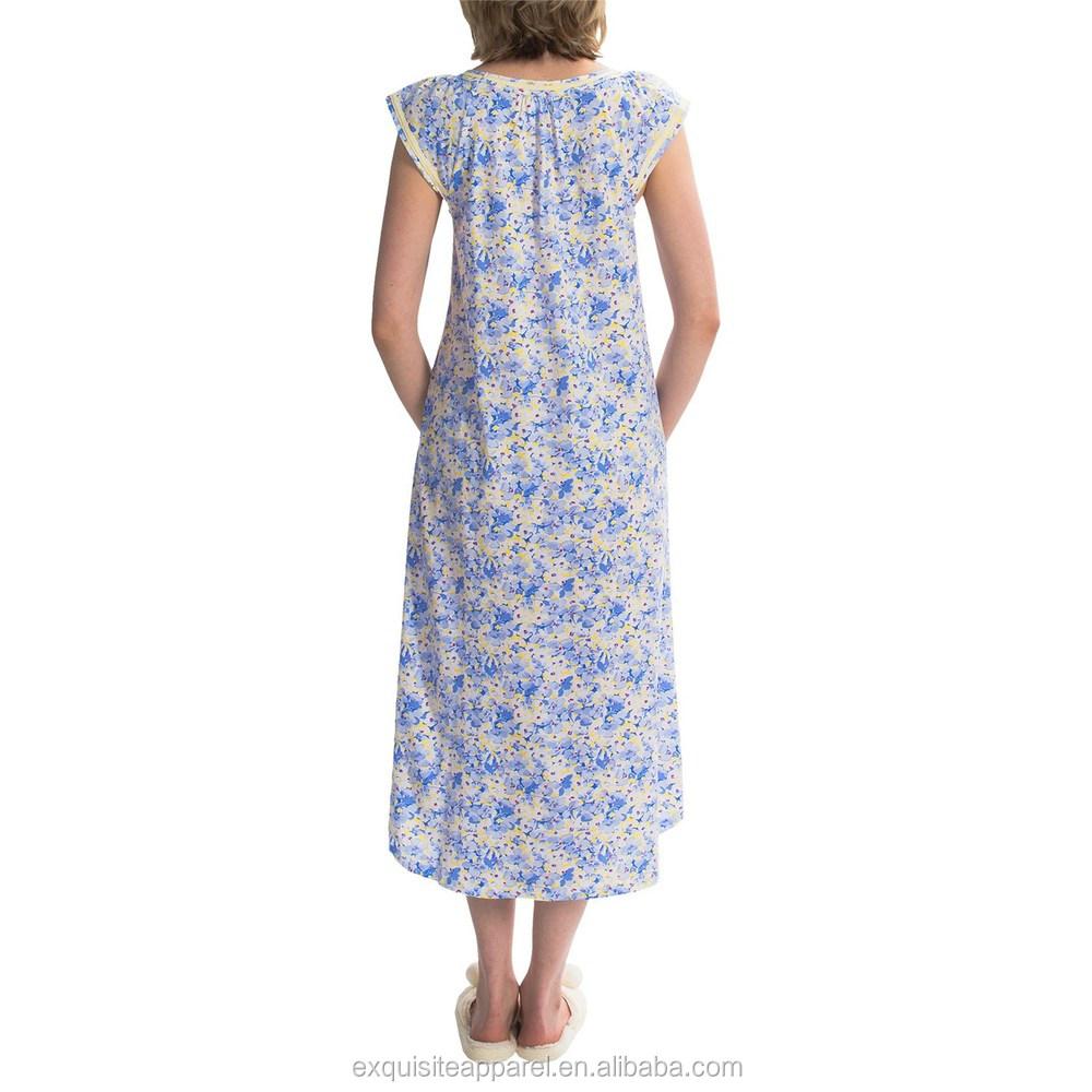 99c837f1a Costume 100% Algodão Camisola de Algodão Nighty   Atacado Camisola   Noite  Vestido ...