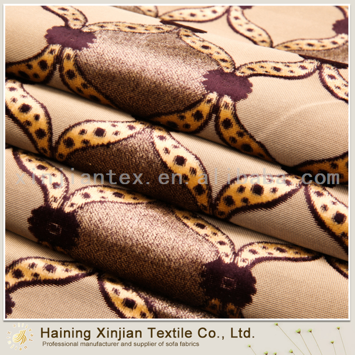 Wholesale Textile Newest Flocked Velvet Fabric