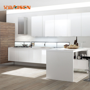 Custom Kitchen Design Modern Style High Gloss Wood Kitchen Cabinet - Buy  High Gloss Kitchen Cabinets,Custom Kitchen Design,Modern Kitchen Cabinet ...