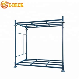 Truck warehouse powder coating steel welded stackable movable portable china commercial tire storage transport rack