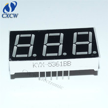 0.56 inch 7 segment led display 3 digits Red CC or CA