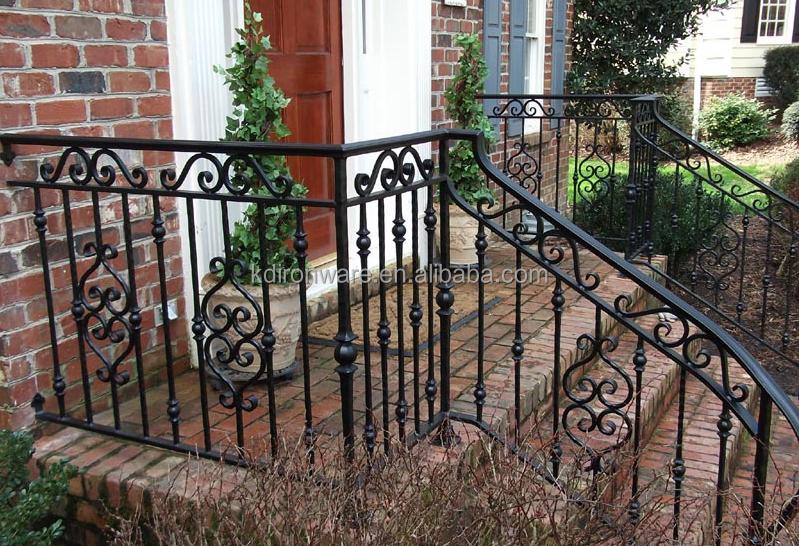 Fabricant Ornemental En Fer Forgé Jardin Rampes D\'escalier En Métal Jardin  Balustrades D\'escalier - Buy Garde-corps D\'escalier De Jardin,Garde-corps  ...