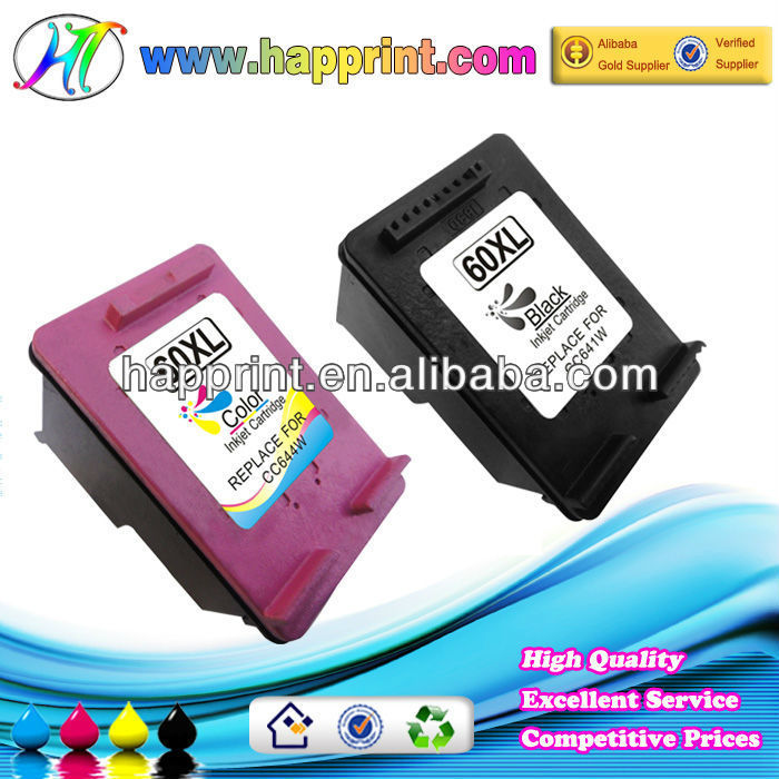 Refillable Ink Jet Cartridge for HP 60xl