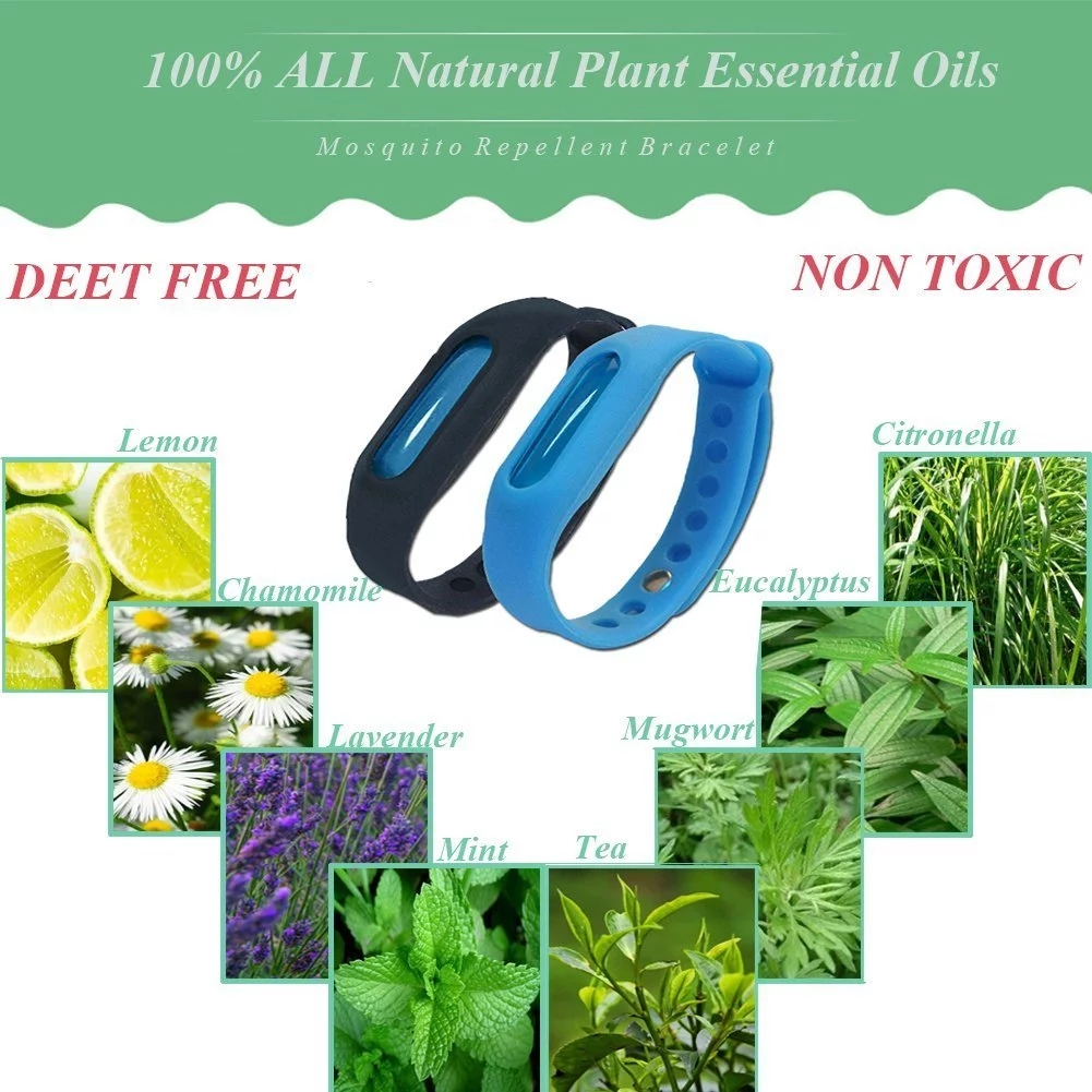 2020  Citronella Mosquito Bracelet  Kids Insect Repellent Hand Band  Child Mosquito Repellent bracelets