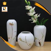 Chinese Creative 3pcs Set Home Decoration Crafts Porcelain Vase Flower