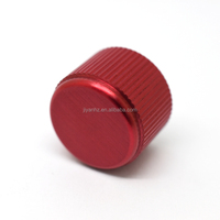 Custom knurled cnc machining turning aluminium rotary knob