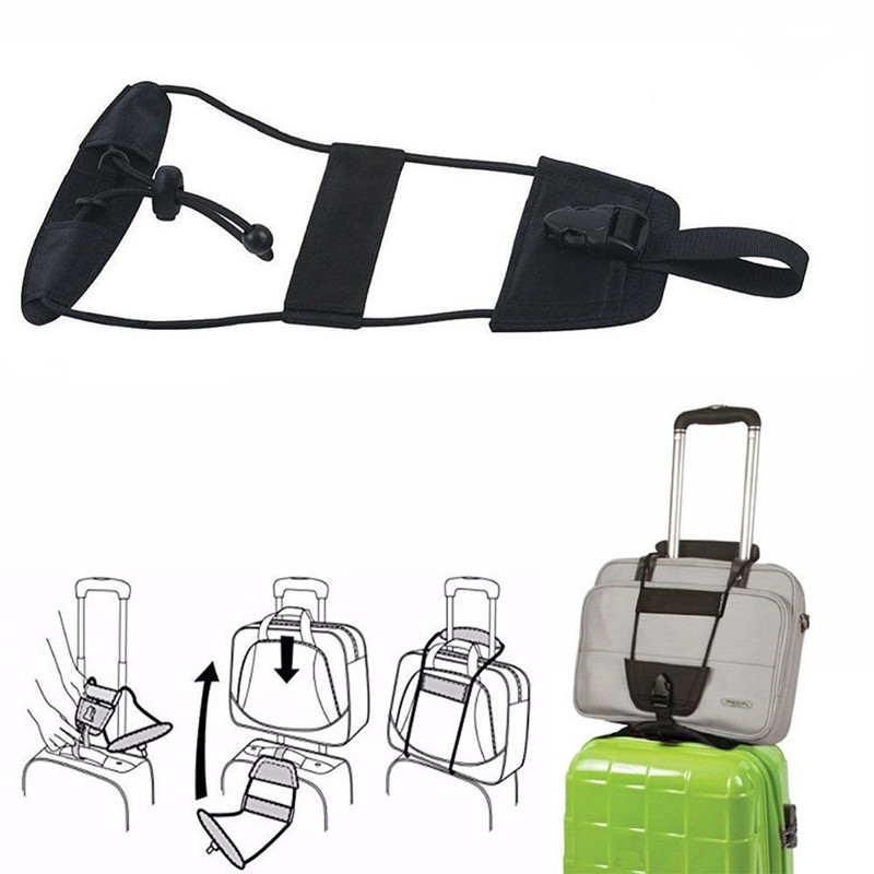Dropshipping 2018 Easy Bag Bungee Carrying Belt Luggage Straps Suitcase Adjustable Belt Portable Travel Luggage Straps