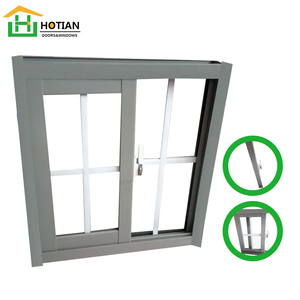 Office Sliding Glass Window / Aluminium Double Glazed Windows And Doors Comply Aluminium Sliding Windows Kerala Supplier