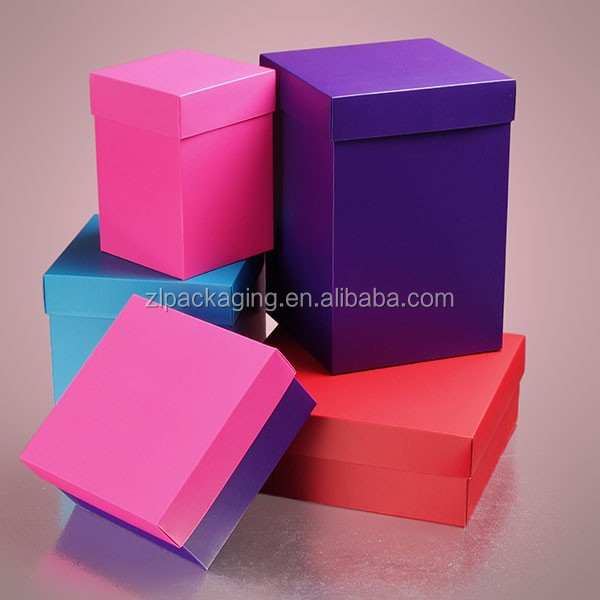 Colored Deluxe Satin Finish Two Piece Gift Boxes
