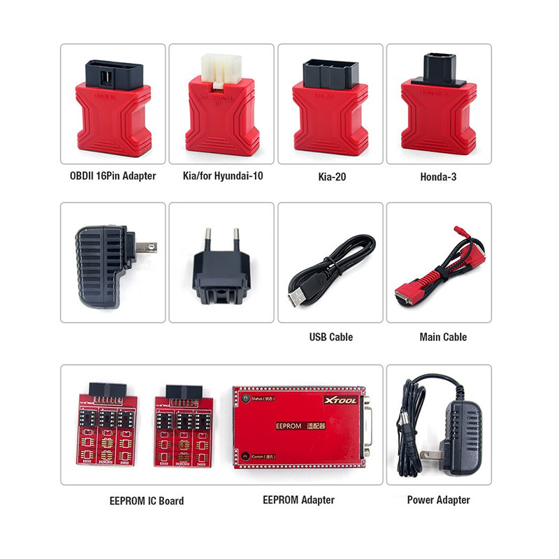 100% Original XTOOL X100 PAD Auto Key Programmer with EEPROM adapter Support oil rest & Odometer Adjustment