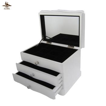 2c8143f2b Custom Color Soft Felt Lining Mdf Wooden Jewelry Organizer Box ...