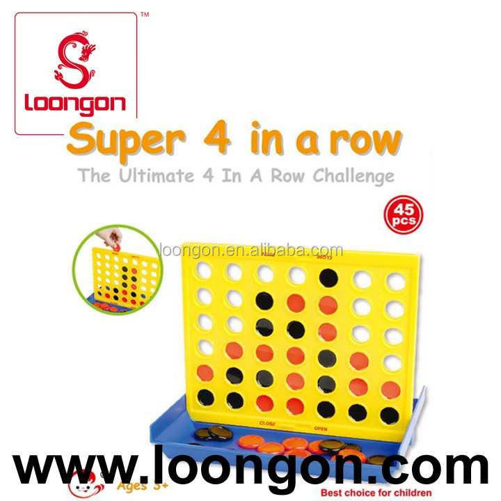 Loongon plastic four 4 in a row game