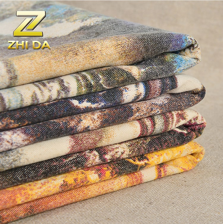 Fabric designing manufacturer 100% cotton printed canvas fabric to make rucksack backpacks bags