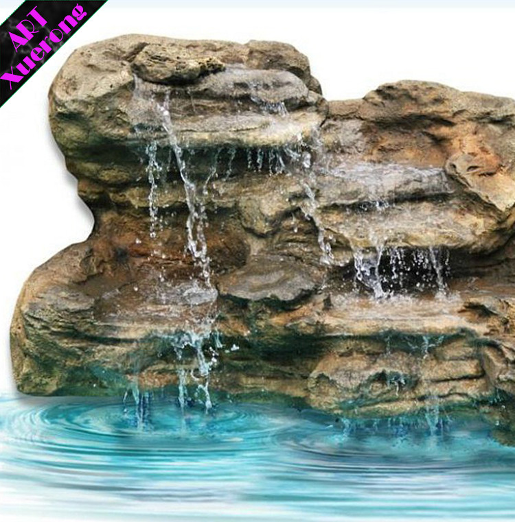 Wholesale artificial/faux/fake fiberglass rock waterfalls from china factory